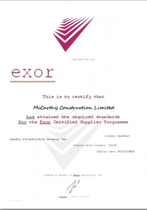 construciton certification